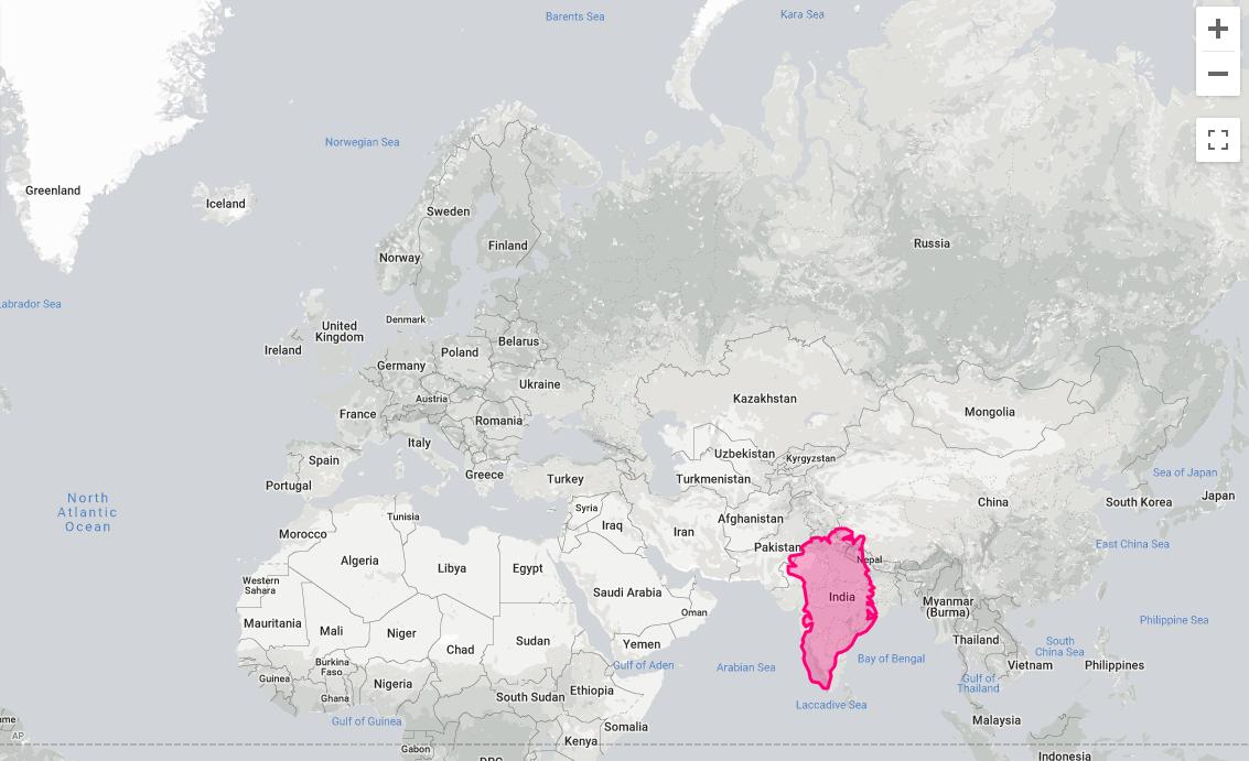 Greenland - true size